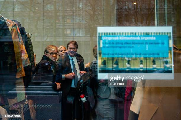 The principal lawyer from the Urgenda foundation is smiling after winning the Urgenda case inside the Supreme Court in The Hague on December 20th 2019