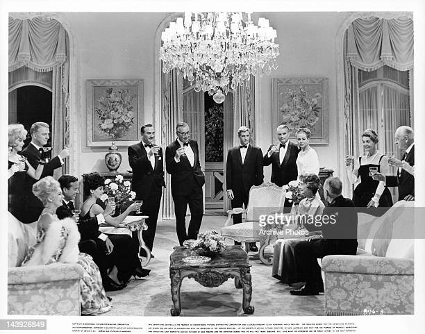 Standing at left Diane Sayer and Don Porter Seated at left Eva Gabor Mark Miller and Suzanne Pleshette Standing in center Lee Bowman Edward Andrews...