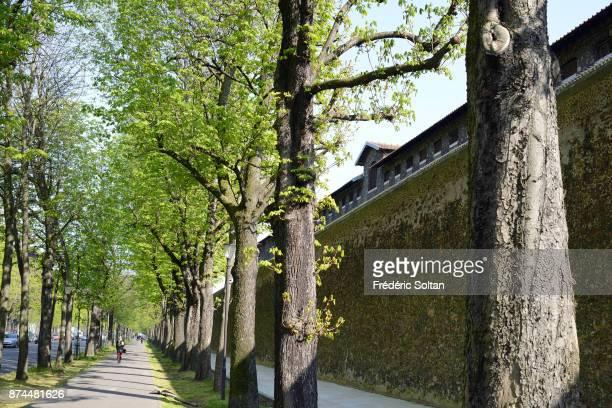 The Prison de la Santé is located in the Montparnasse district of the 14th arrondissement in Paris on April 20 2015 in Paris France