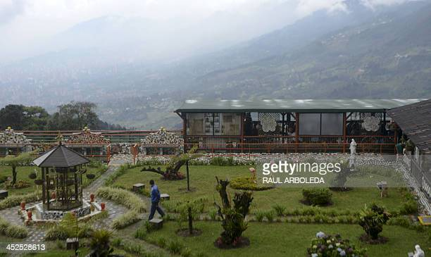 The prison known as The Cathedral where late Colombian drug lord Pablo Escobar was held in the Envigado municipality near Medellin Antioquia...