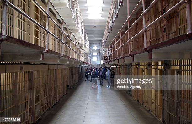 The prisons at The Rock former highsecurity prison in San Francisco Bay of California on April 15 2015 'The Rock' the island of Alcatraz served first...