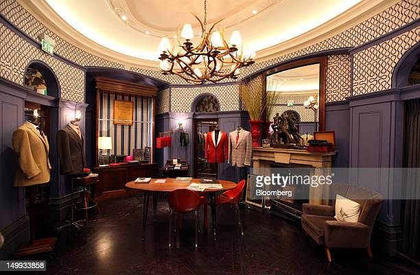 The private bespoke measuring room is seen at the Gieves Hawkes store owned by Trinity Ltd on Saville Row in London UK on Tuesday Aug 7 2012 UK...