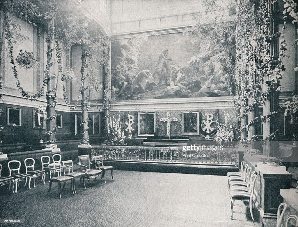 The Private Chapel of Buckingham Palace, c1910 (1911) : News Photo