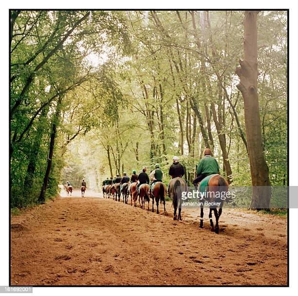 The private horsetraining grounds of Chateau de Chantilly are photographed for Vanity Fair Magazine on June 11 2011 in Chantilly France PUBLISHED...