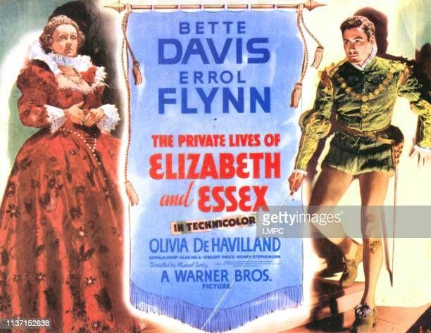 The Private Lives Of Elizabeth And Essex poster Bette Davis Errol Flynn 1939
