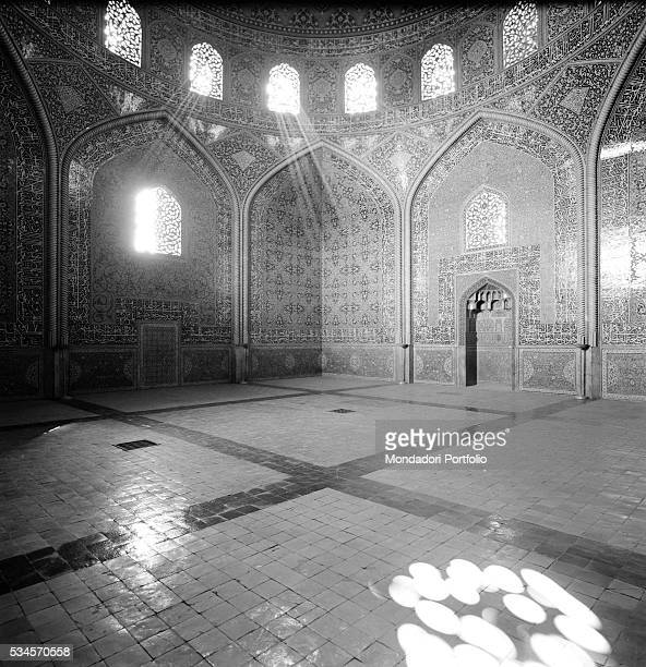 The private room for the Shah's harem at the Sheikh Lotfollah Mosque Isfahan 1964