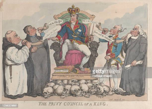 The Privy Council of a King March 28 1815 Artist Thomas Rowlandson