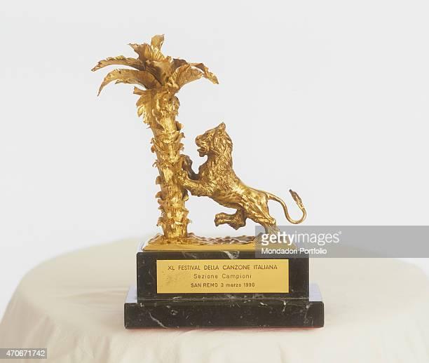 'The prize for the 40th Sanremo Music Festival Sanremo 3rd March 1990 '