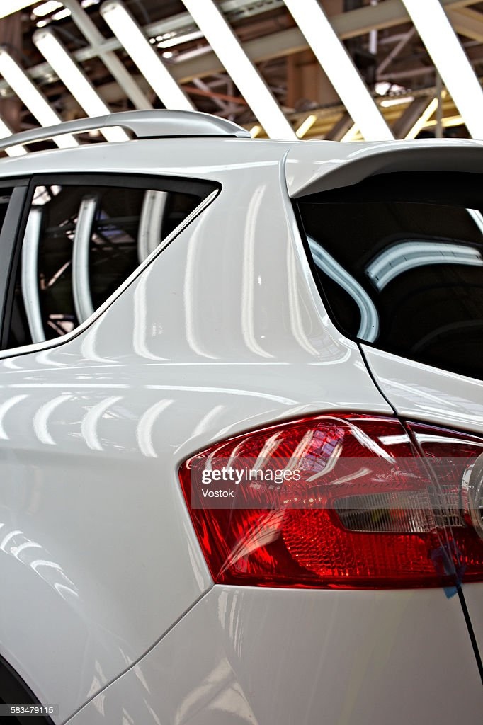 the process of car production in the factory : Stock Photo