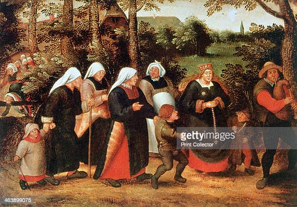 'The Procession of the Bride' c15841638 From the collection of the Art Museum of Estonia Tallinn Estonia