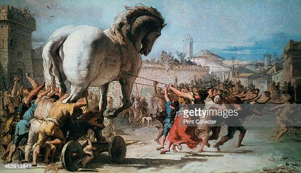 'The Procession of the Trojan Horse into Troy' c1760 From the National Gallery London