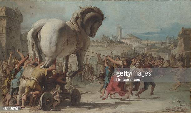 The Procession of the Trojan Horse into Troy ca 1760 Found in the collection of the National Gallery London