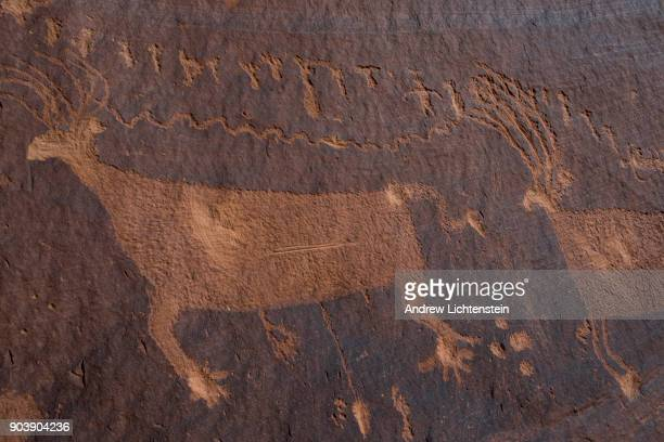 The Procession petroglyph sits above Butler's Wash as part of the new Bear Ears National Monument on December 29 2018 in San Juan County Utah Despite...