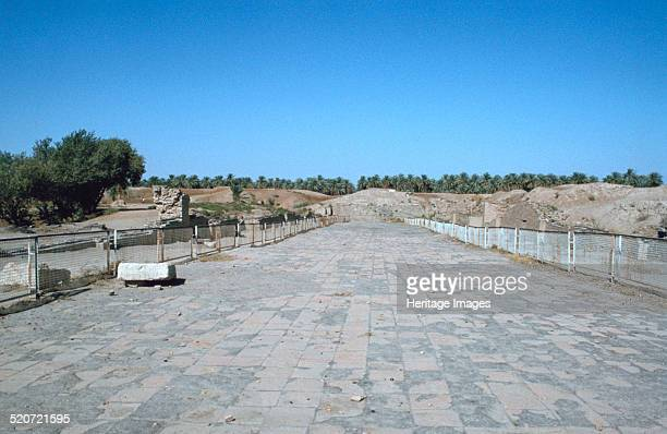 The Processional Way Babylon Iraq 1977 The Processional Way led into the ancient city of Babylon through the Ishtar Gate Built in c575 BC during the...