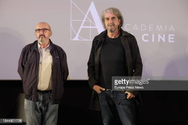 The producer of 'The Good Patron', Jaume Roures and the director Fernando Leon de Aranoa, at the press conference where his film has been chosen to...