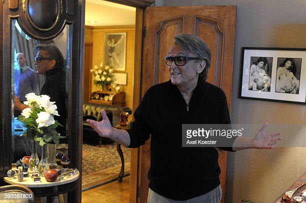 The producer Robert Evans was photographed at his home in Beverly Hills