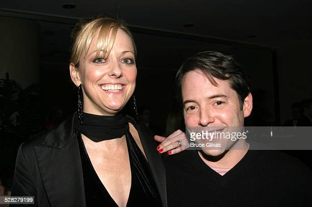 The Producers costars Angie Schworer and Matthew Broderick