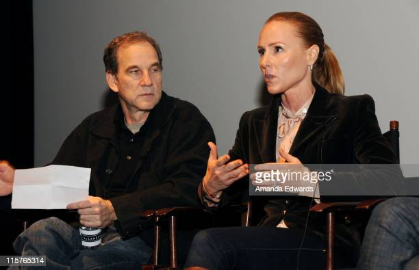 The Producers Guild of America President Marshall Herskovitz and producer Sarah SiegelMagness participate in a Q A discussion at the Producers Guild...