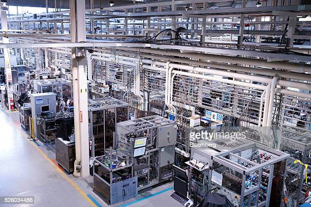 The production and battery testing area is seen at the Ballard Power Systems Inc facility in Burnaby British Columbia Canada on Friday April 22 2016...