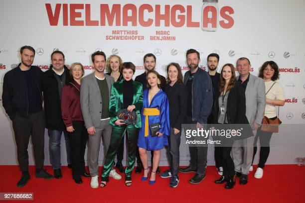 The production and cast members like Florian Ross, Emma Drogunova, Juliane Koehler, Jella Haase and Marc Benjamin attend the premiere of...