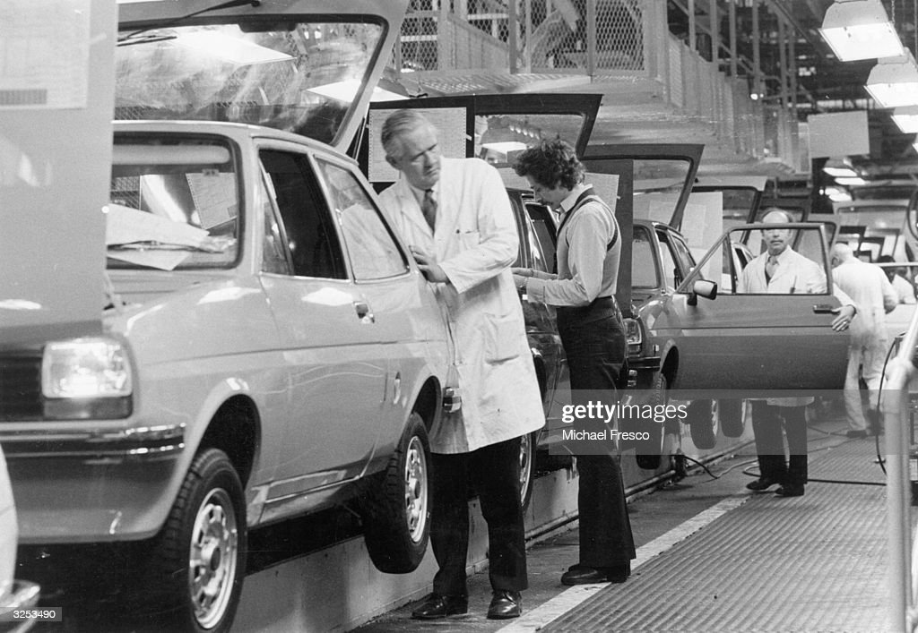 The production line of the Ford Fiesta at Dagenham.