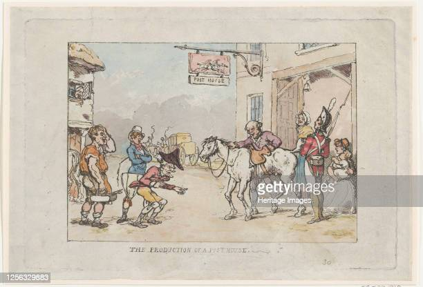 The Production of a Post House 1808 Artist Thomas Rowlandson