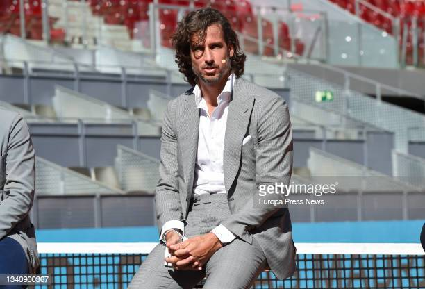 The professional tennis player and director of the Mutua Madrid Open, Feliciano Lopez, during the signing ceremony for the renewal of the agreement...