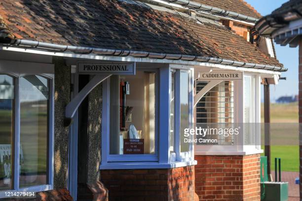 The Professional's Shop and the Caddie Master's office at Royal St. George's Golf Club on September 03, 2012 in Sandwich, England.