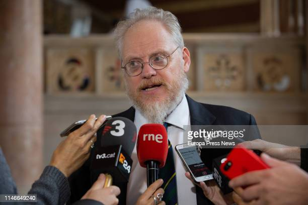 The professor of Diplomacia Publica Nicholas J Cull is seen during the opening act of the seminar 'El paper de la diplomacia publica en l'era...