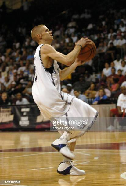 The Professor of Team AND1 in action against AND1 Las Vegas during 2004 AND1 Mix Tape Tour stop at Orleans Arena in Las Vegas Nevada June 16 2004