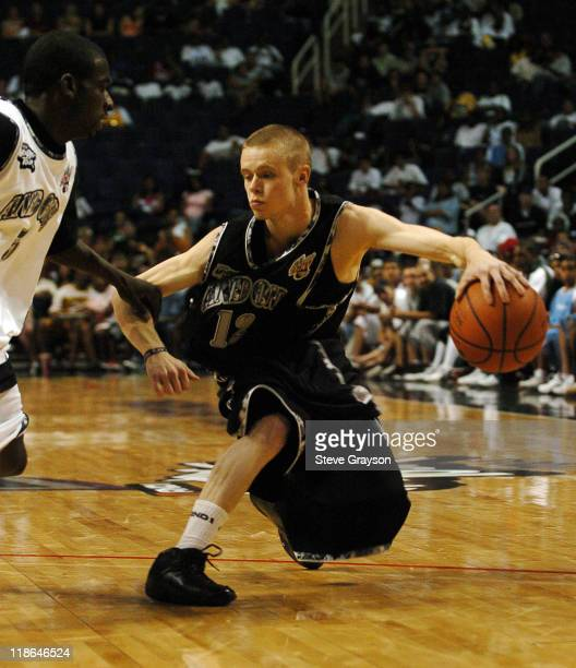 The Professor of Team AND1 in action against 'Spook' of AND1 Phoenix during 2004 AND1 Mix Tape Tour stop at America West Arena in Phoenix Arizona...