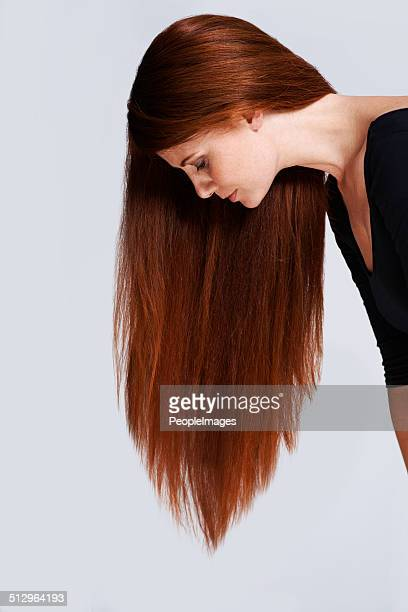 the profile of healthy hair - thick white women stock photos and pictures