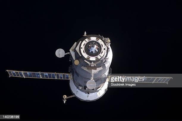 The Progress 40 resupply vehicle in orbit.