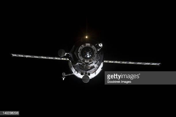The Progress 41 resupply vehicle in orbit.