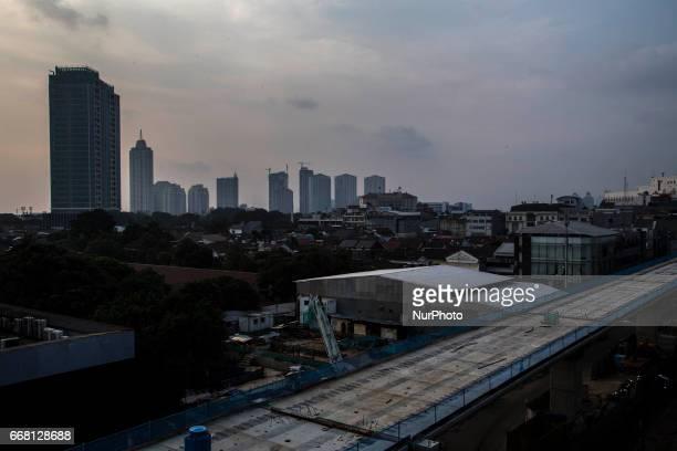 The progress view of MRT project at BlokM Area South Jakarta The development of MRT at Lebak BulusFatmawatiBlok M has already reach 65%