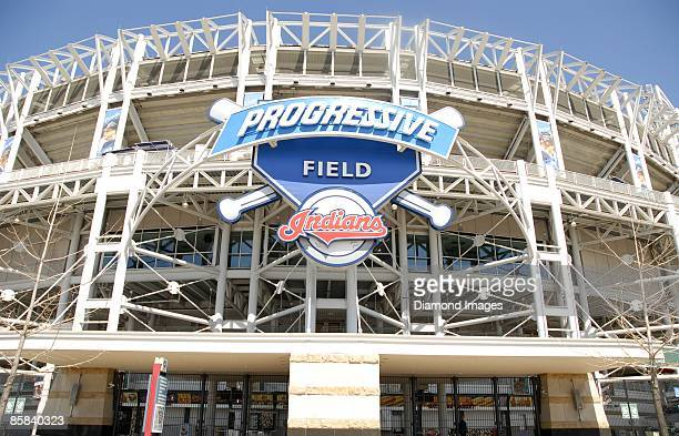 The Progressive Field marquee on Sunday April 5 2009 in Cleveland Ohio