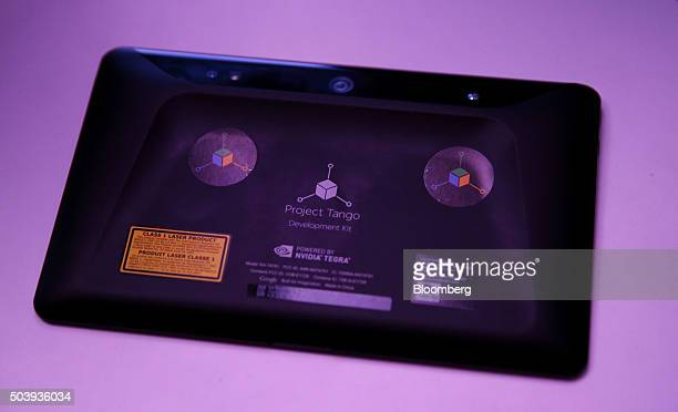 The Project Tango Development Kit is displayed during a Google Inc and Lenovo Group Ltd event at the 2016 Consumer Electronics Show in Las Vegas...