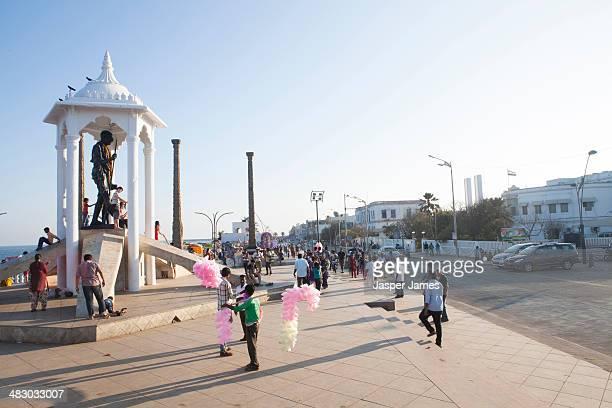 The promenade in Pondicherry,India