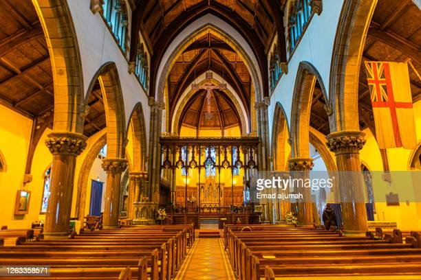 the prominent inverness cathedral church in scottish highlands - scotland (uk) - catholicism stock pictures, royalty-free photos & images