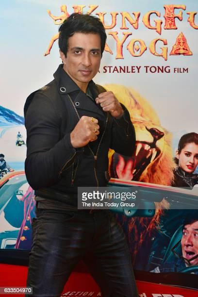 The promotion of upcoming film Kung Fu Yoga actors Sonu sood in Noida Uttar Pradesh