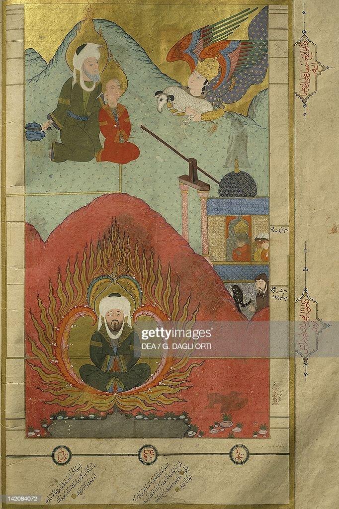 The Prophet Abraham preparing to sacrifice his son  King