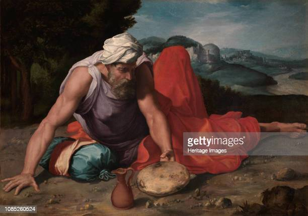 The Prophet Elijah in the desert ca 15451550 Private Collection