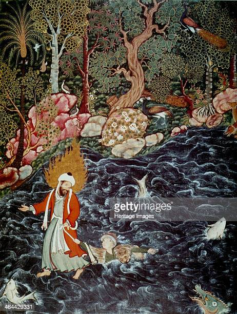 The prophet Elijah rescuing Prince Nur adDahr 15621577 From a private collection