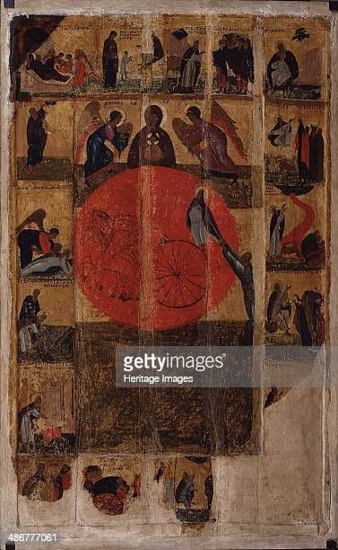 The Prophet Elijah with Scenes from His Life End of 14th cen Artist Russian icon