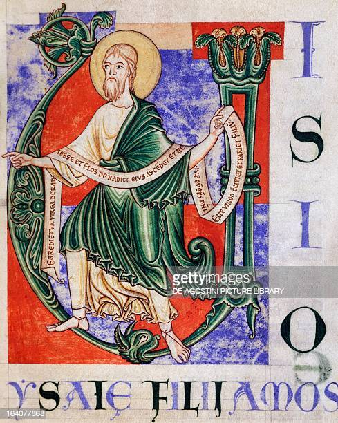 The Prophet Isaiah from Citeaux miniature from Citeaux Explanatio in Isaiam manuscript 129 folio 5 recto France 12th century Dijon Bibliothèque...