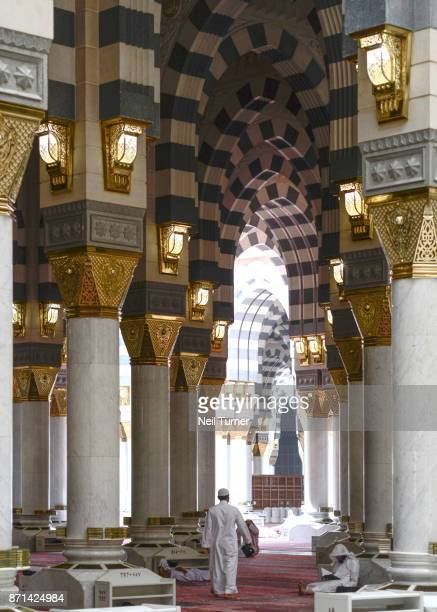 the prophet's mosque. medina. saudi arabia. - al masjid al nabawi stock pictures, royalty-free photos & images