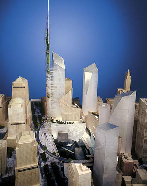 Wtc Designs Narrowed Down To Two Pictures Getty Images