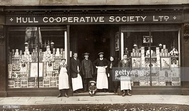 The proprietors and employees of the Hull Cooperative Society Limited in front of their store circa 1910