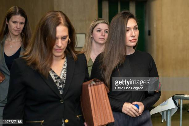 The prosecution's key witness Jessica Mann arrives at Manhattan criminal court to testify at the sex assault trial of Harvey Weinstein on January 31...