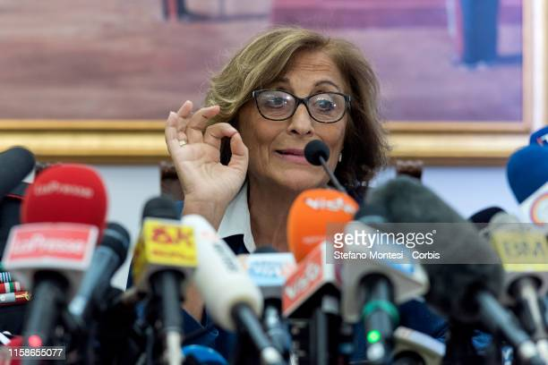 The prosecutor Nunzia D'Elia give a press conference on the investigation of the murder of the Carabinieri's officer Mario Cerciello Rega on July 30,...